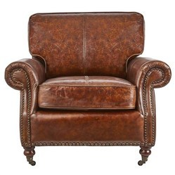 Vintage Leather Single Seater Armrest Sofa,Leather Furniture