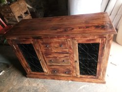 2 Brown Wooden Cabinet, for Home, Smooth
