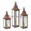 Iron Candle Lantern Set of 3