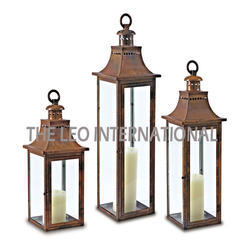 Iron Candle Lantern Set of 3