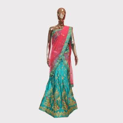 Rama Green Fancy Lehenga