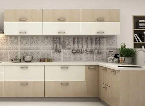 Cream Brown Wooden Home Modular Kitchen Cabinet Rs 300000 Unit Id 20411955997