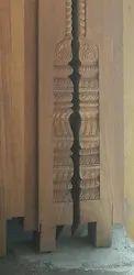 Wooden Carving Pillar