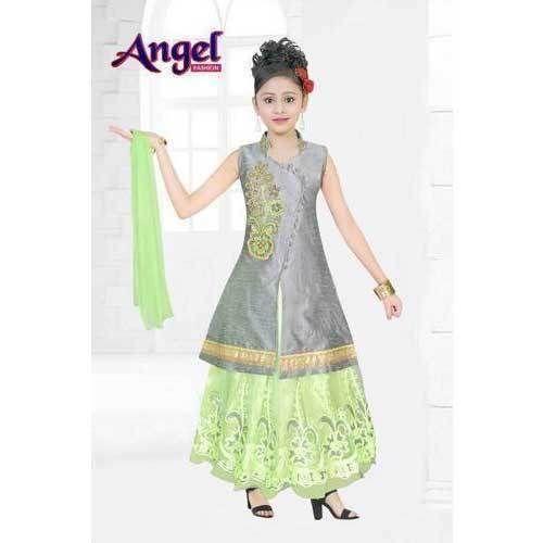 2e0c03a15a2a2e Kids Long Jacket Style Lehenga - Kids Designer Long Jacket Style ...