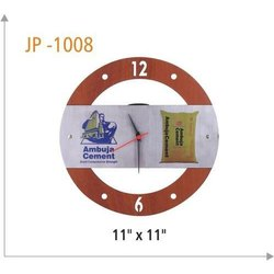 Analog Wood Wooden Wall Clock, Size: 11x11 Inch, Shape: Round
