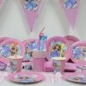 Unicorn Cartoon Character Party Paper Plates