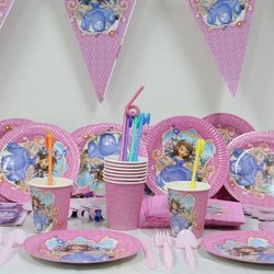 DISNEY Unicorn Cartoon Character Party Paper Plates, GSM: 300, Size: 6-12 Inch