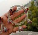 Silver Wedding Oxidized Afghani Bangles