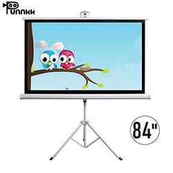 Punnkk 84 inches 6/4 Tripod Projection Screen