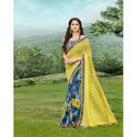 Party Wear Georgette Sarees, 6.3 M