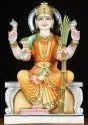White Marble Gayatri Ma Statue