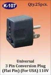 K-107 3 Pin Universal Conversion Plug