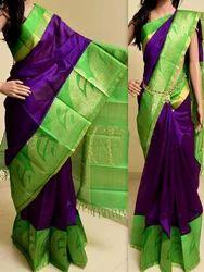 Bridal Wear Plain Ethnic Saree