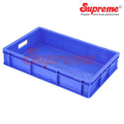 Blue Rectangular Supreme SCH 503210 Material Handling Crates, Capacity: 12 Ltr