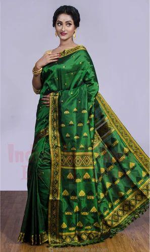 Assam Silk Saree Z24356, 5.5 M (separate Blouse Piece), Rs 9500 /piece    ID: 19479054355