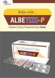 Etizolam 0.5mg  Propranol HCL 20mg