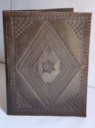 Brown Designer Embossed Leather Journal