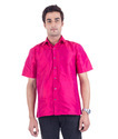 Scot Wilson Men's Hot Pink Silk Shirt