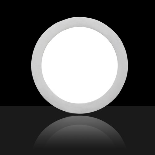 Cool White CALBRIX Panel Light, Shape: Round