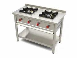Silver Two Burner Cooking Range