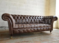 Synthetic Leather Leather Sofa for Home