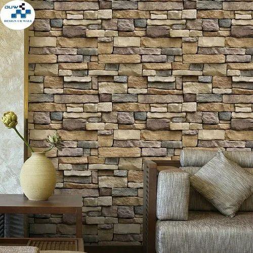 pvc glossy bricks wallpaper 1 kg rs 1000 roll design ur wall id 21864789288 bricks wallpaper