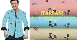 Tarpan (100% Cotton Drill Discharge Print Laffer Finish)