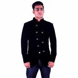Regular Fit Sancy Polyester Men Ethnic Wear Velvet Coat, Size: M-XL