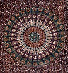 Barmeri Mandala Printed Bed Sheet