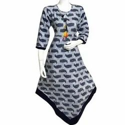 Rayon Party Wear Printed Kurti