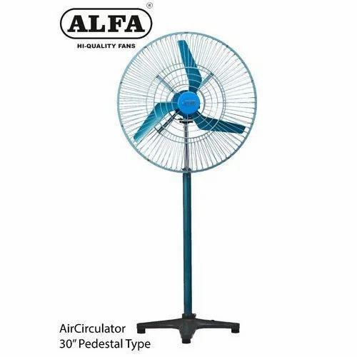 Blue 350 Watts 30 Air Circulator Pedestal Fan Warranty 12 Months