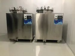 Vertical Double Wall Autoclave PLC Based