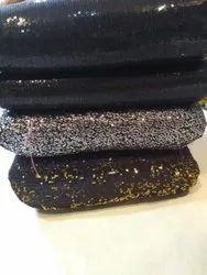 RJ Fabrics Silk Fancy black sequence fabric, Packaging Type: Than, GSM: 100-150 GSM