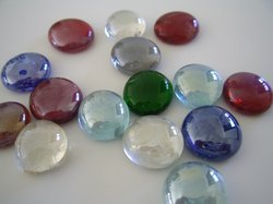 Oval Shape Glass Gemstone