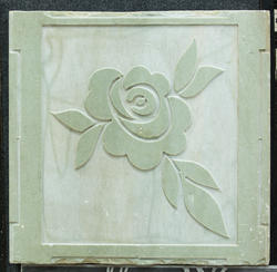 Mint Sandstone Flower CNC Work