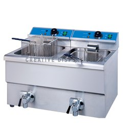 Double Tank Table Top Electric Fryer