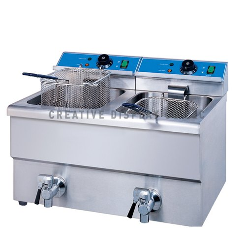 KARMA Double Tank Table Top Electric Fryer, Size: 550x430x345mm