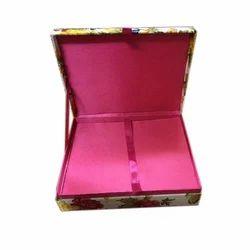 Square Cardboard Decorative Wedding Card Box
