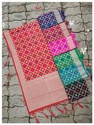 THE KAZO Pure BANARASI SILK STOLE, Packaging Type: Bag