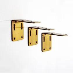 Soft Gold Flat Track Single Bracket