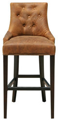 Leather Contemporary Bar Stool And Counter Stool