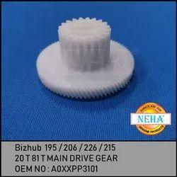 Bizhub 195 / 215 / 235 /  7719 / 7721 / 7723  20t 81t Main Drive Gear Oem No : A0XXPP3101