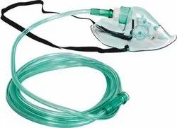 Transparent And Green Oxygen mask, for Hospital