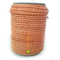 Antique Light Orange Braided Leather Cord