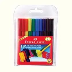 Faber Castell 10 Connector Pen, Packaging Type: Packet