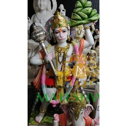 Polished Hanuman Marble Statue