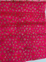 Embroidered Red Color Designer Dress Fabric