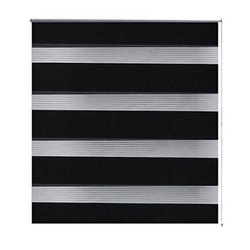 Fiber Black Zebra Window Blind