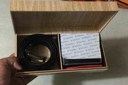 Fiber Wood Rectangle Belt Wallet Combo Box