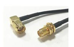 SMA F BH RF Cable Assembly with RG 174 L 2 mtr  SMA M RA